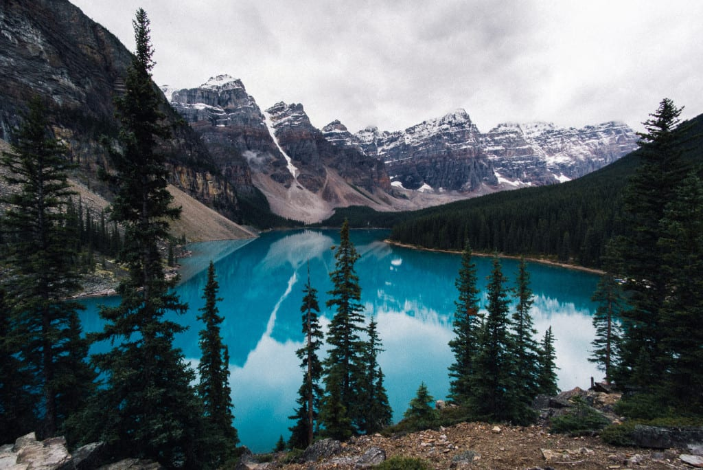 Blue Lake at Banff National Park
