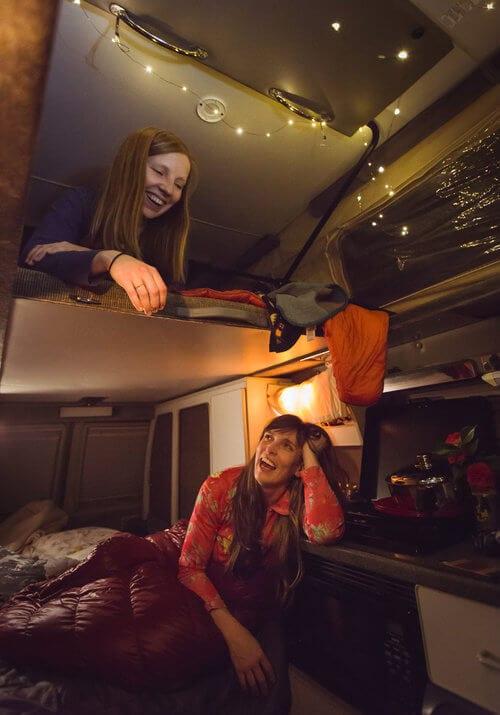 Roving Dears enjoying their ROAMERICA campervan rental