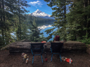 View of Mount Hood from Campsite