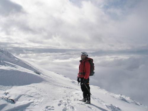 Climber on Mount Hood
