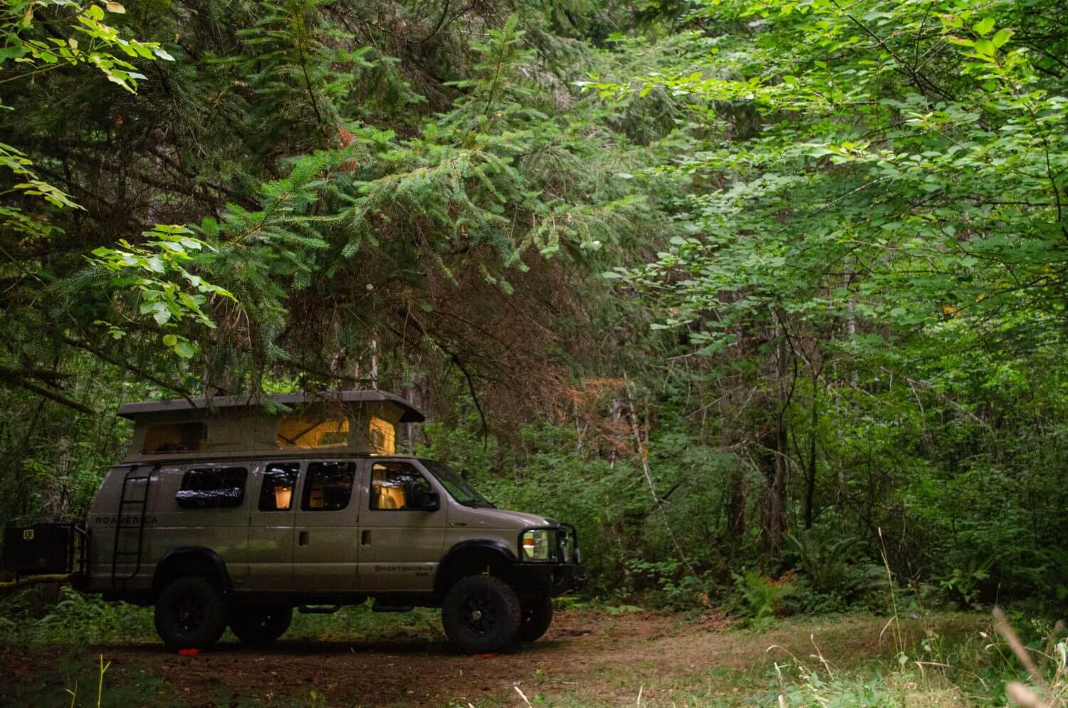 Forest RV camping in Oregon