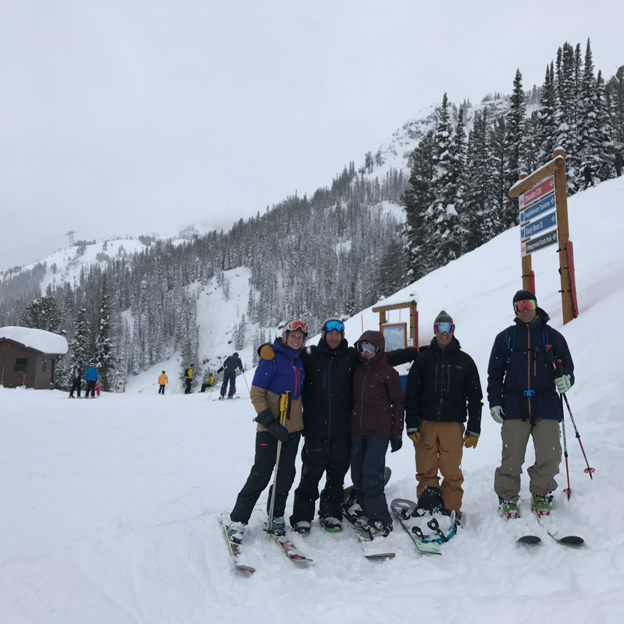 Skiing in Jackson Hole, Wyoming
