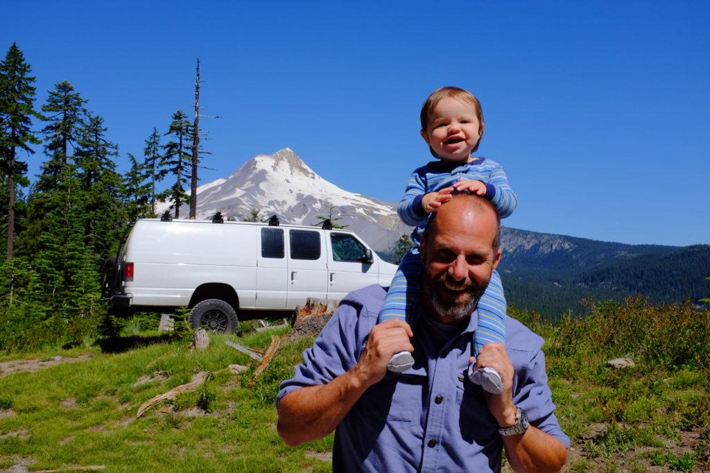Camping with kids near Mount Hood Oregon