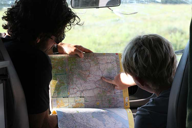 knowing how to read maps is a very useful skill in the backcountry - Route planning - ROAMERICA campervans