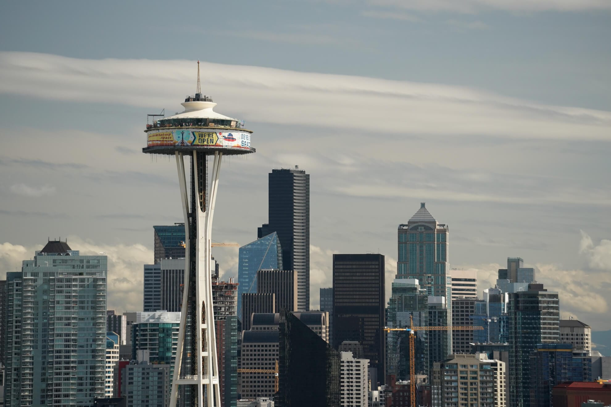 Space Needle on Seattle Washington skyline