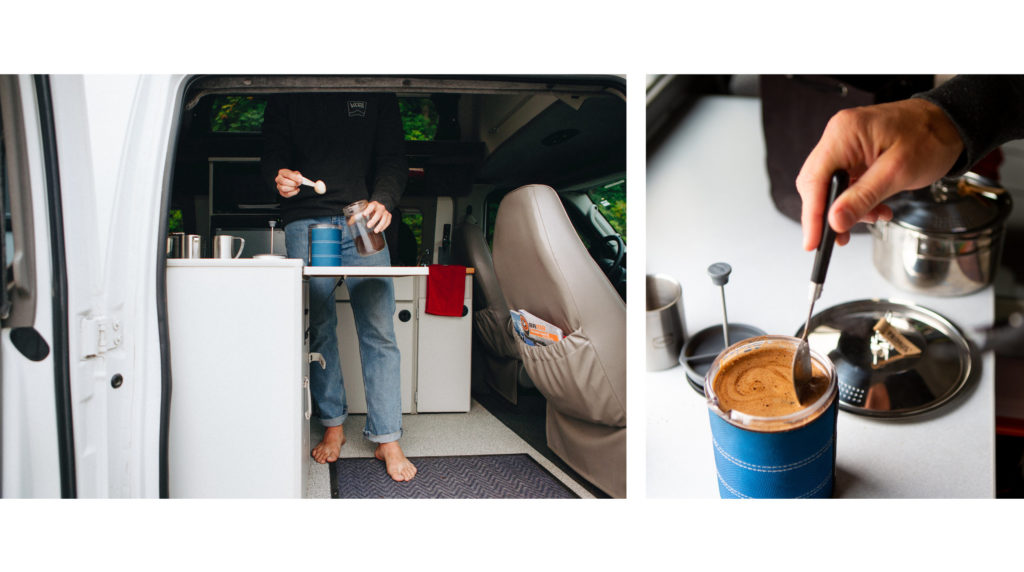 Making Coffee - ROAMERICA Campervan Rental