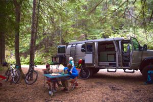 Top mountain biking trails in Oregon with a campervan and the family