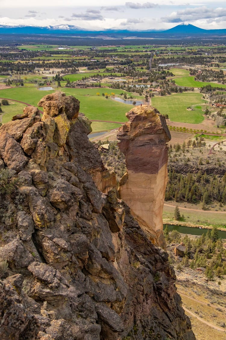 Climbing Monkey Face at Smith Rock