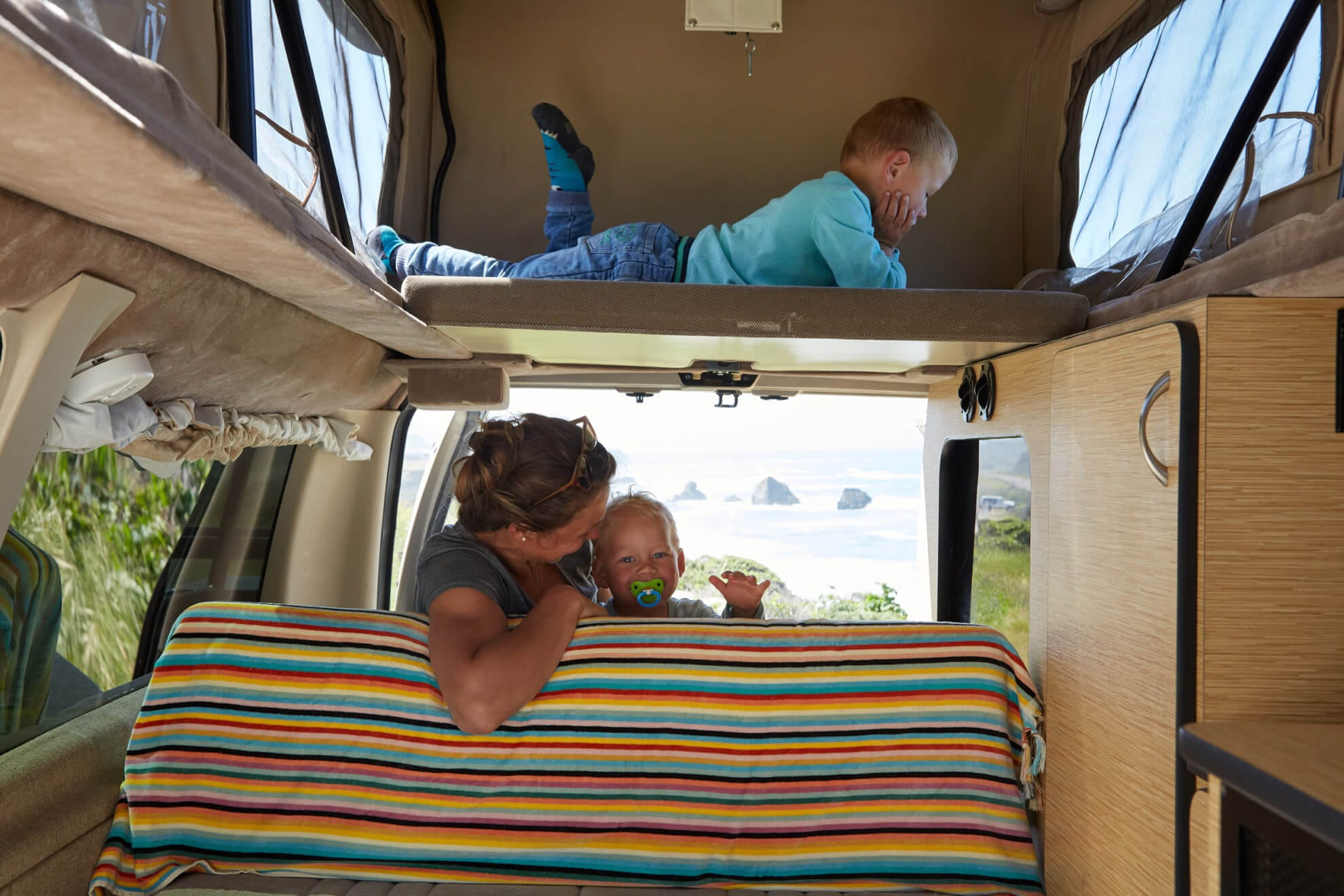 Family camping on Oregon Coast - ROAMERICA campervans