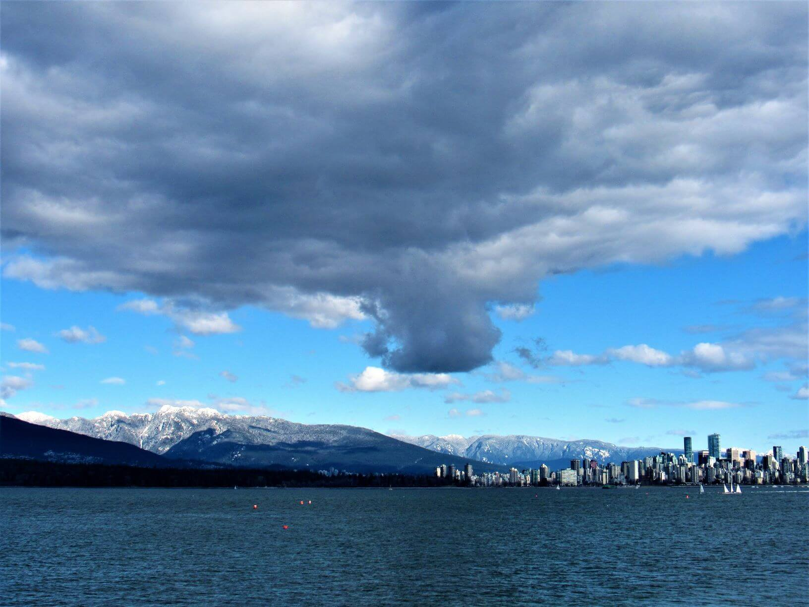 View of Vancouver British Columbia from the bay