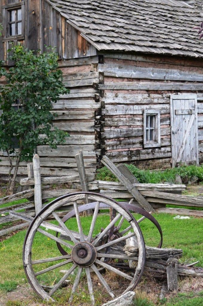 Historic log cabin in Granite, OR