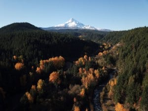 Mount Hood in fall