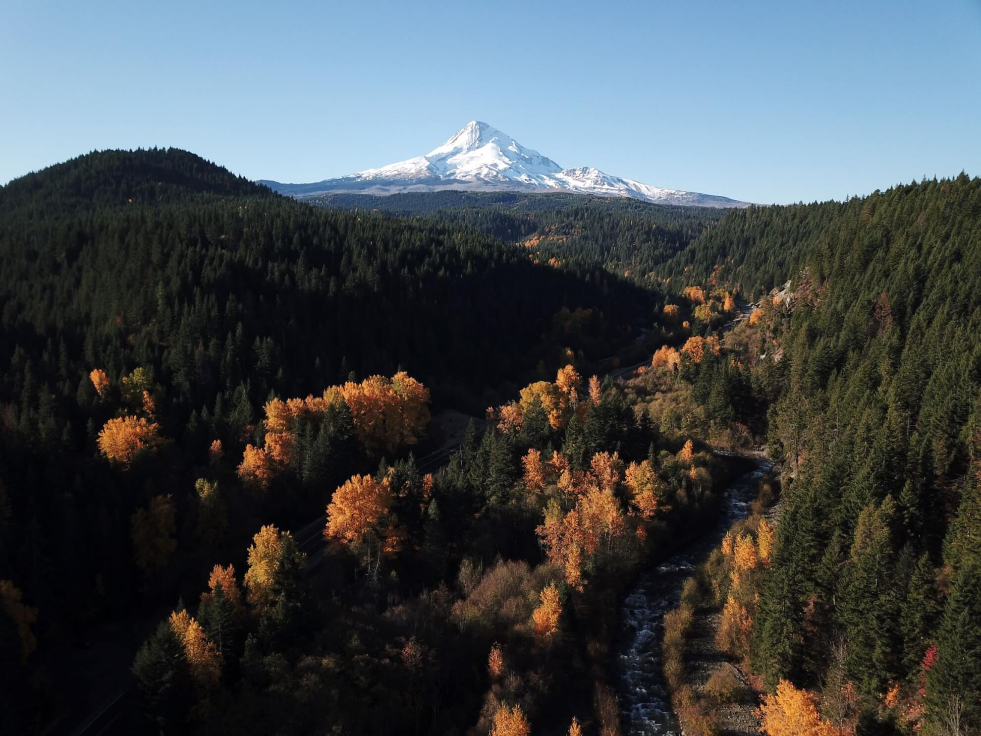 Mount Hood in fall