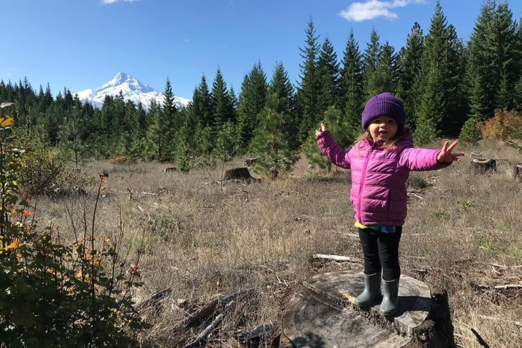 Piper Hood at the Oakridge trail in Hood River, Oregon