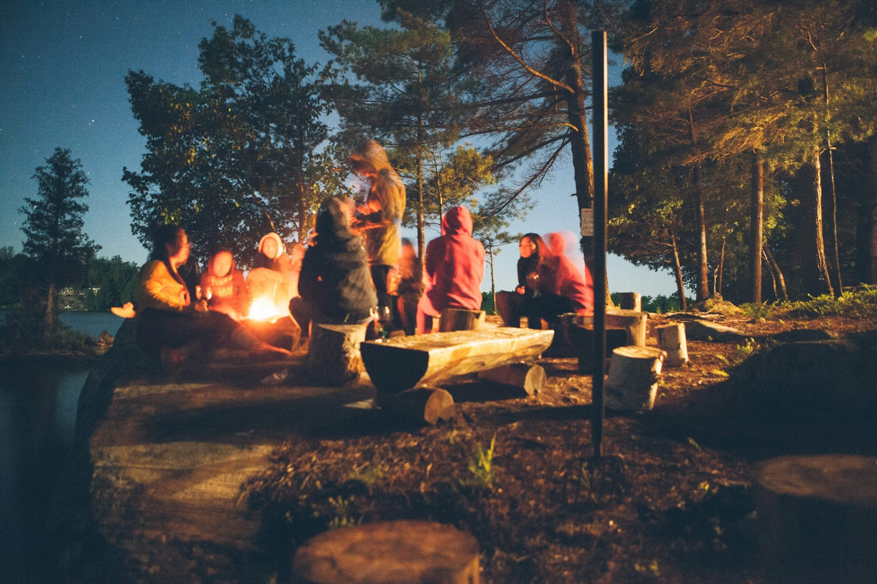 cooking over the campfire for a large group