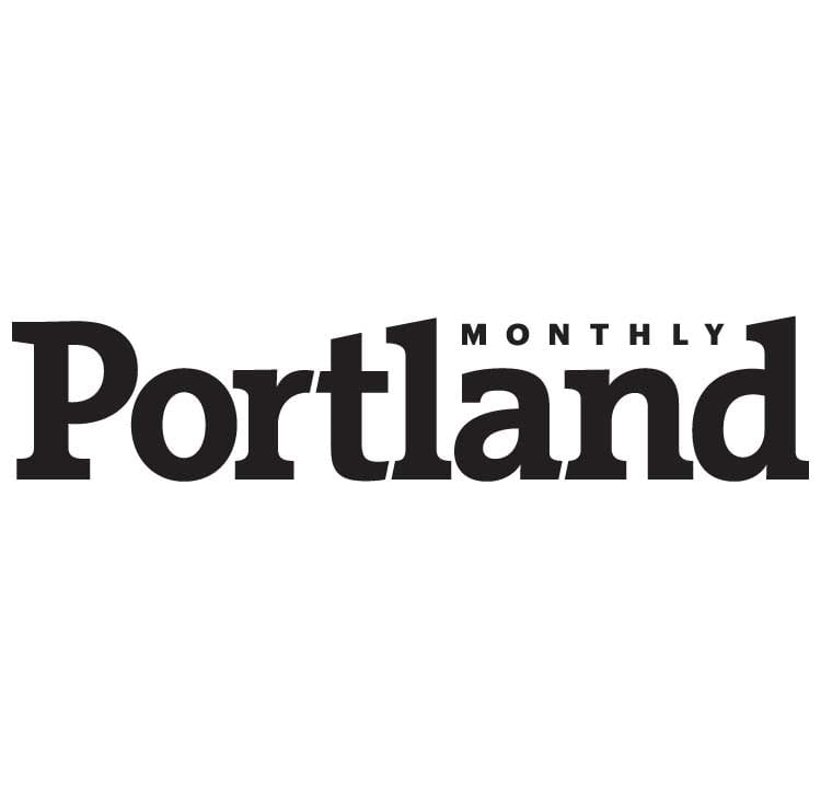 Portland Monthly logo in black talks about Roamerica and traveling around Oregon in a van