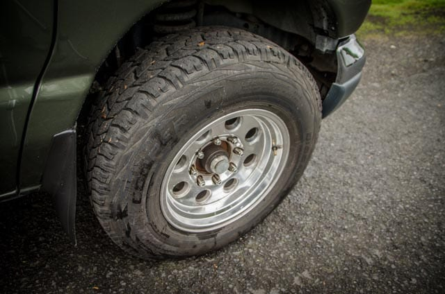 New tires on a 2wd Ford Econolibe Sportsmobile for sale in Portland, Oregon through Roamerica camper van rental company