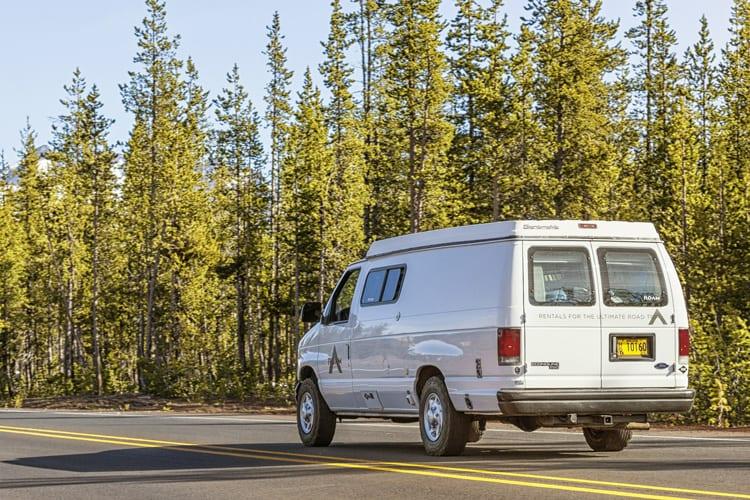 Road trip in a cmapervan through Oregon - 2wd Ford Econoline Sportsmobile Conversion van
