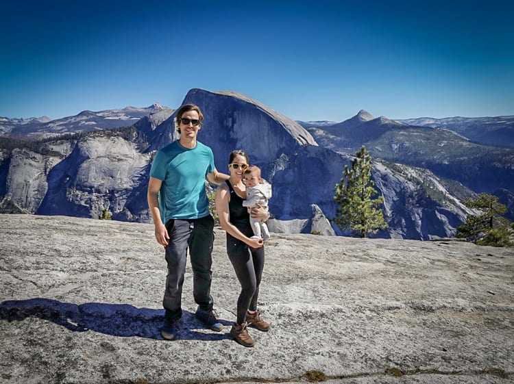 Road trip itinerary Yosemite, hiking along the way with a baby