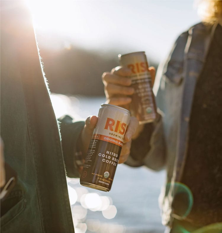 Rise Brewing Coffee while camping