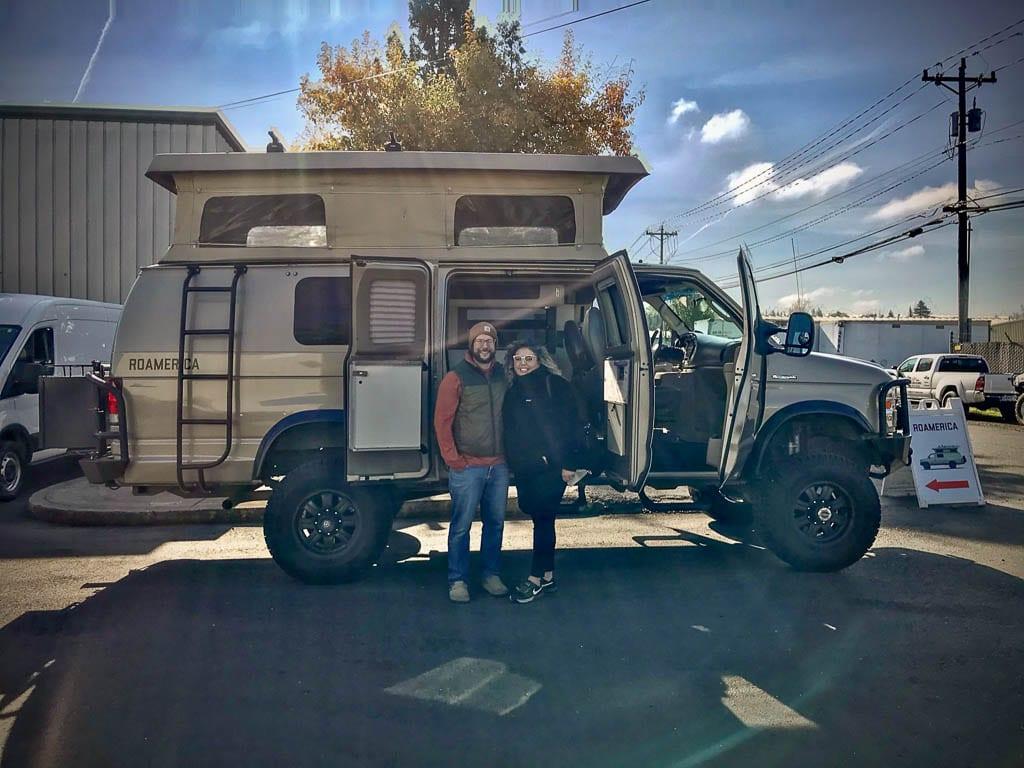 Oregon road trip van rental for two.