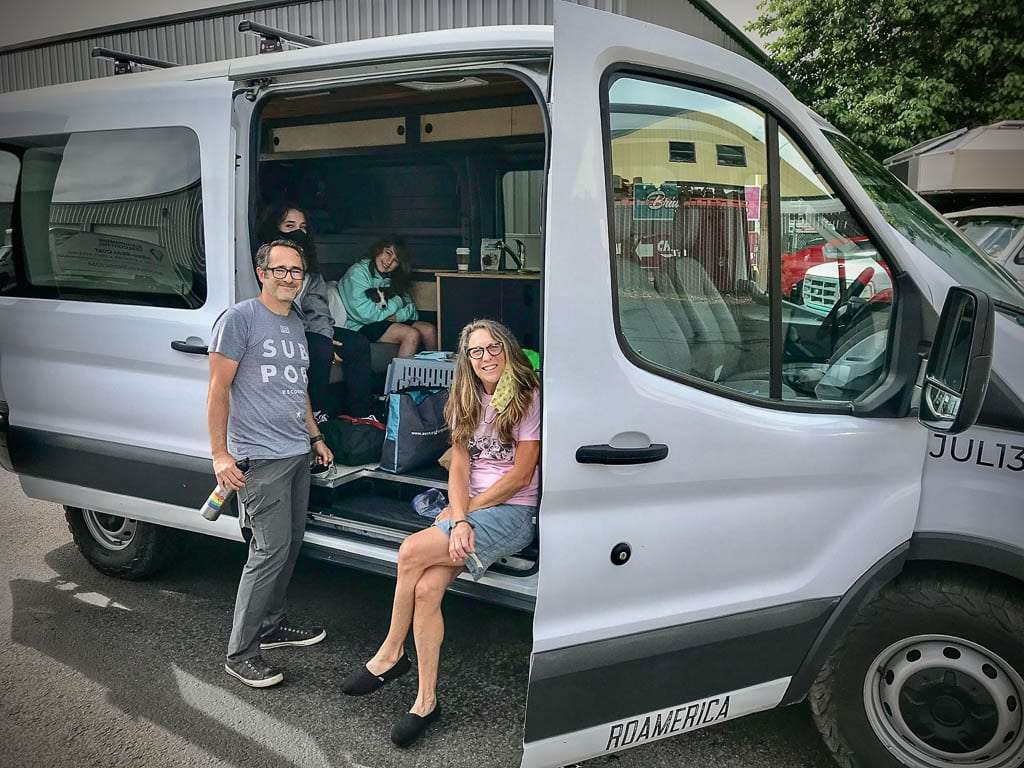 Ford Transit camper van full and ready to hit the open road