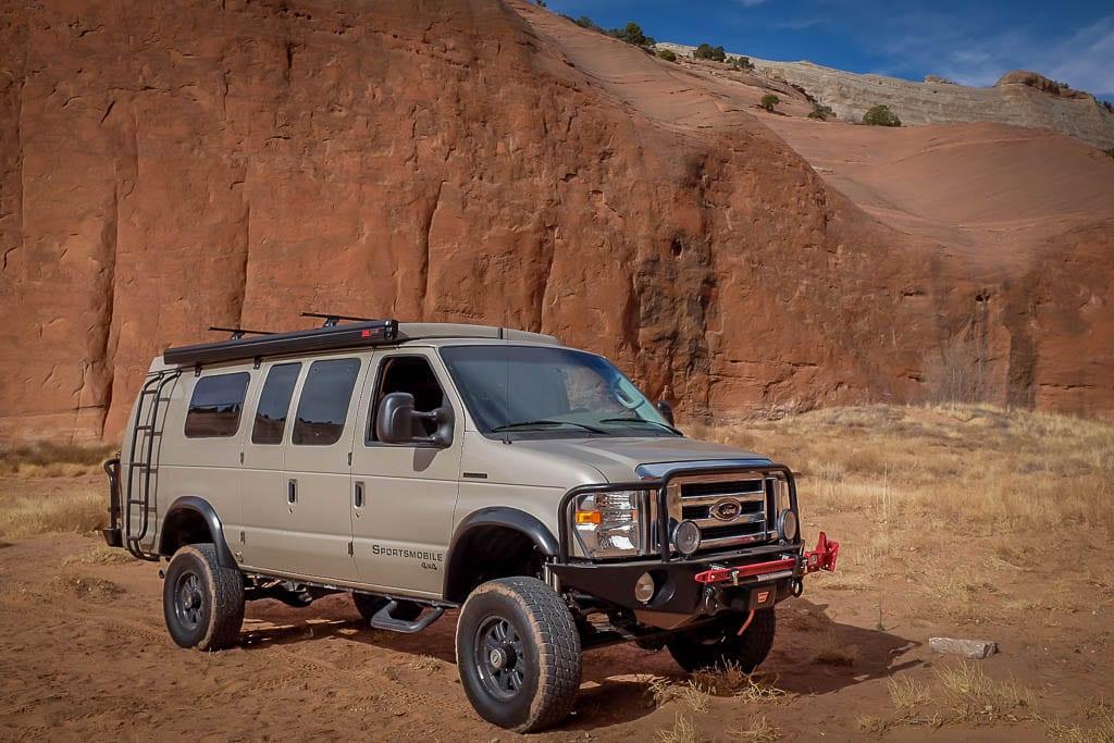 Camper van Moab adventure