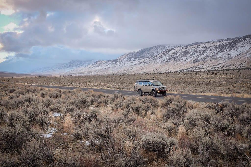 Moody camper van road trips