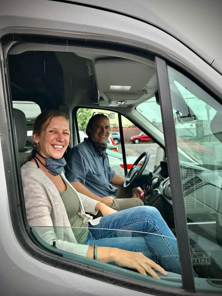 Ford Transit camper van rentals for two!