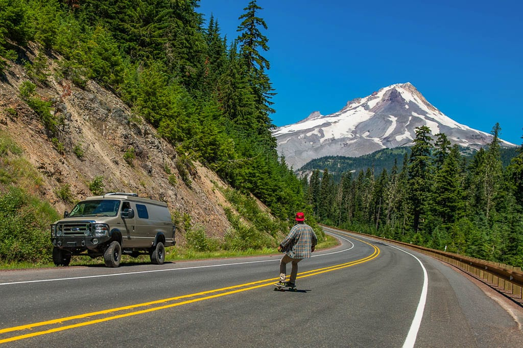 Experience a road trip like this! Ford conversion van adventures.