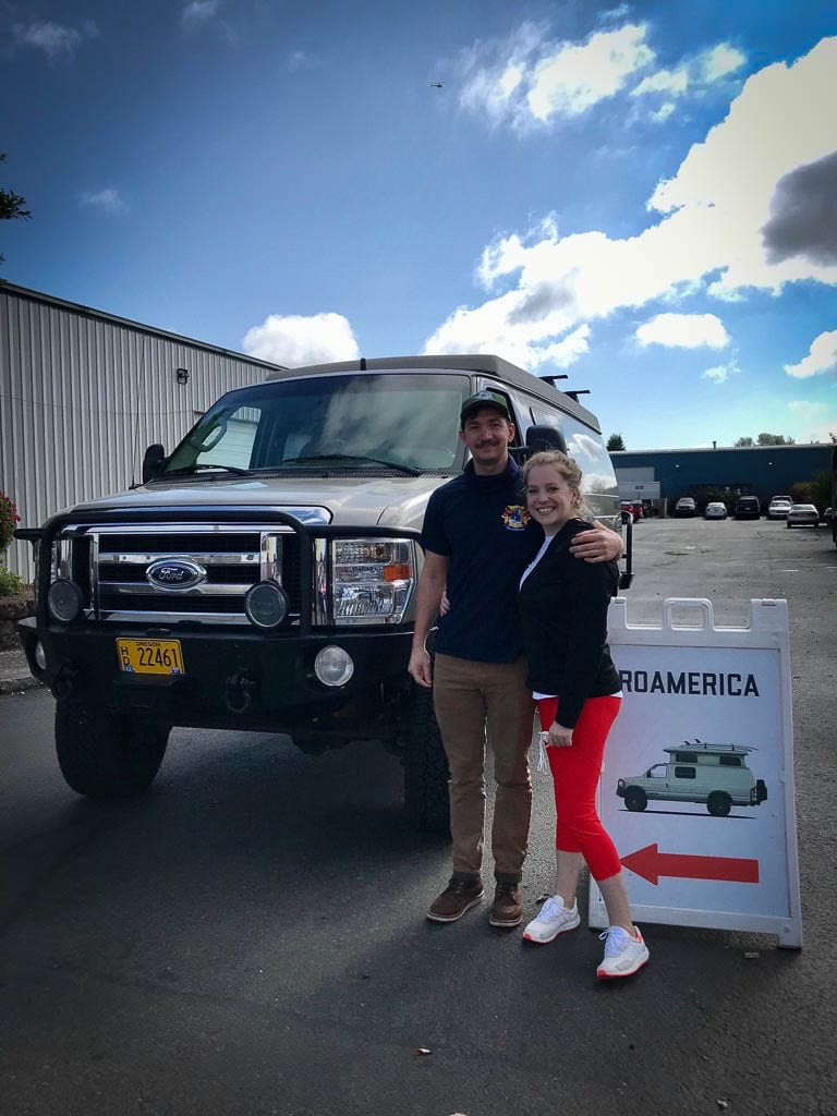 Couple retreat with Ford camper van Delta