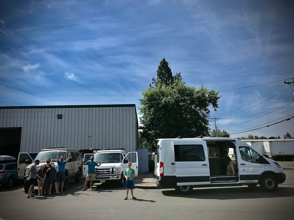 Groups are welcome! Ford camper van road trips.