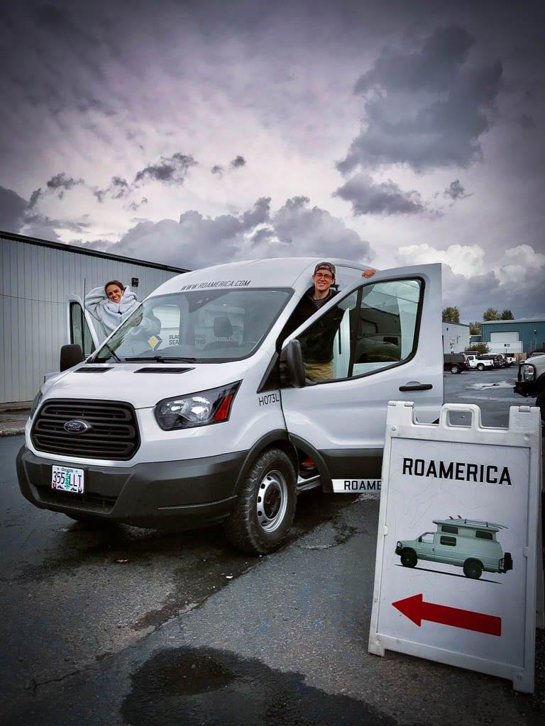 Purpose built camper vans for rent.
