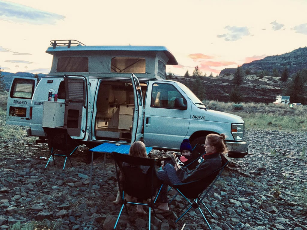 Relaxing times brought to you by Ford camper van!