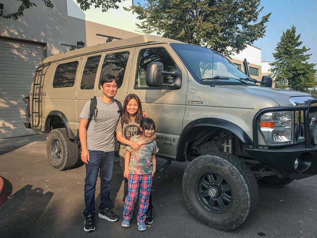 Small family, big camper van fun!