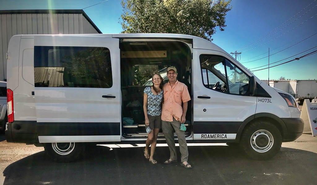 Camper van rental ready to hit the road.