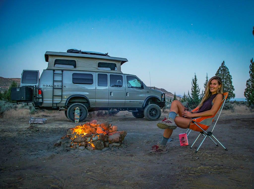 Sportsmobile Ford van rental camp-out!