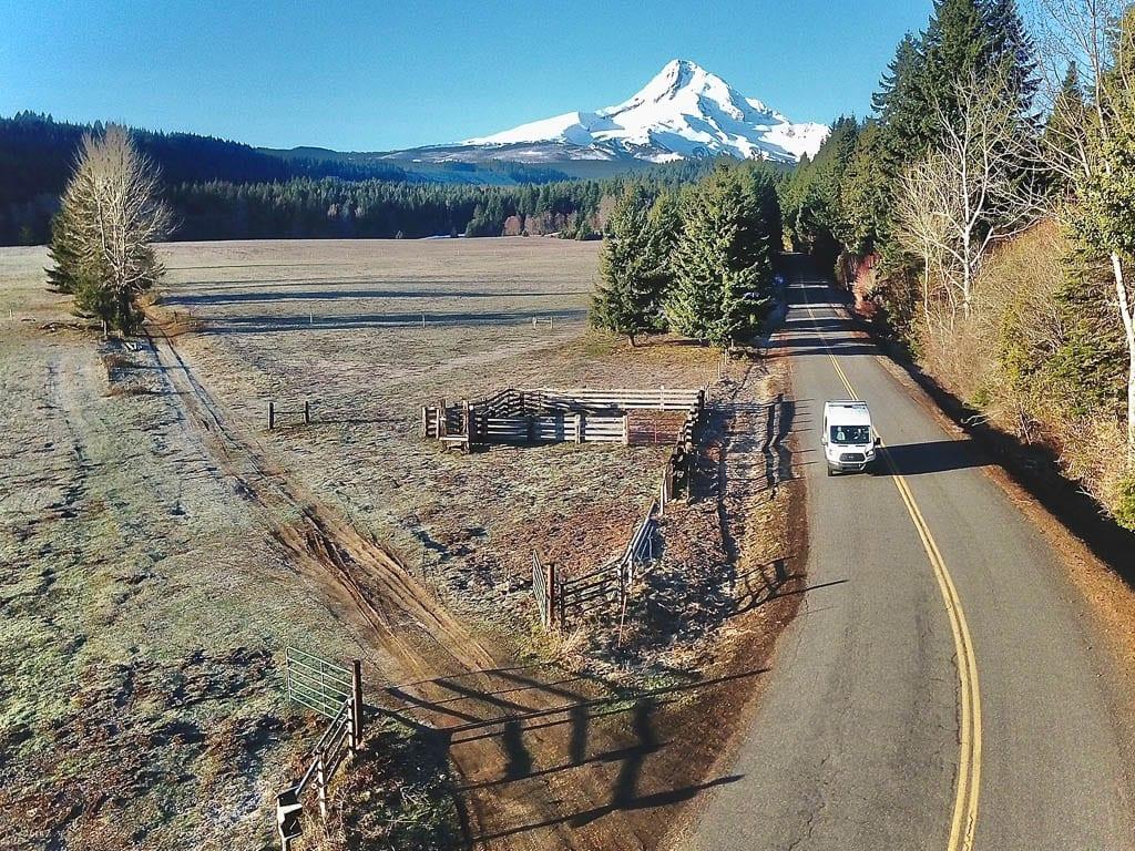 Ford camper van Oregon Mt. Hood road trip