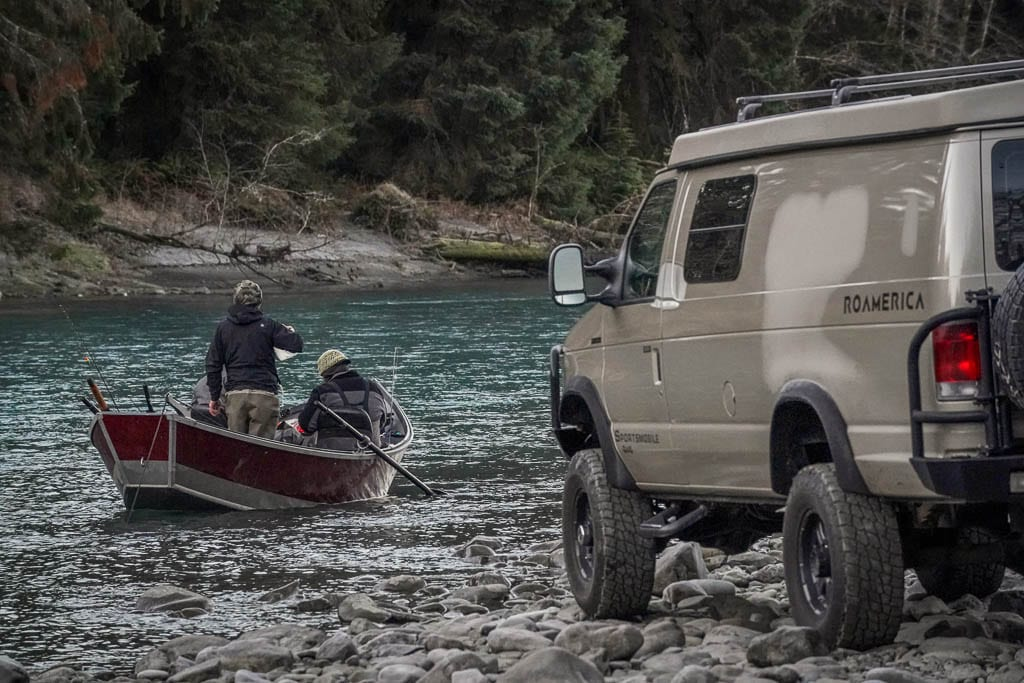 Fishing trips with 4x4 adventure camper van