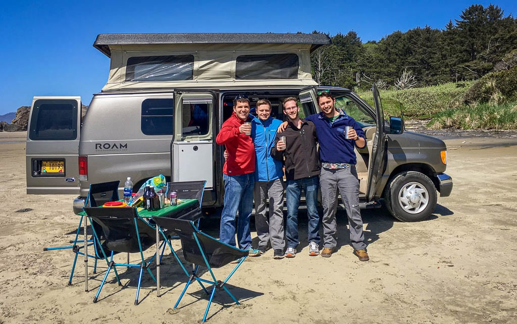 Camper van with your buddies for great stories for later