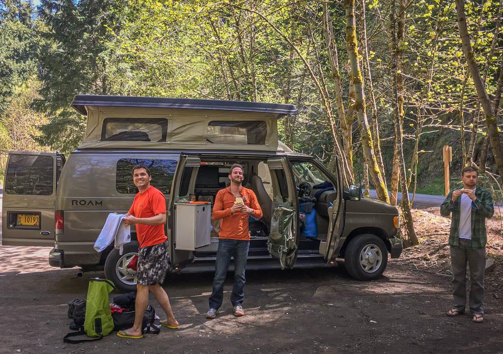 Ford pop top camper van basecamp for you best buds!