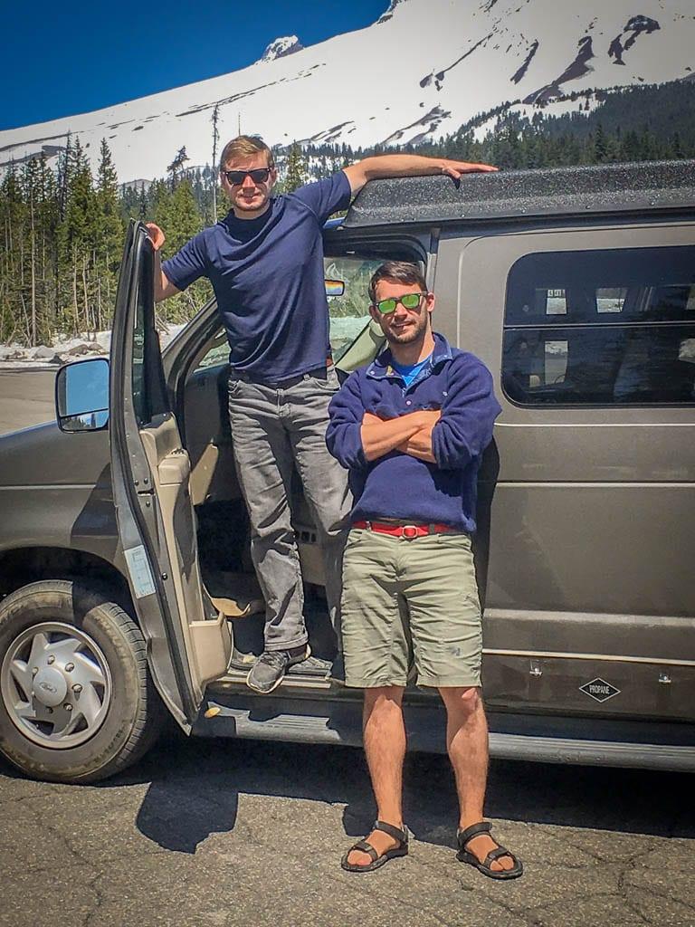 Ford camper van adventure van life bros