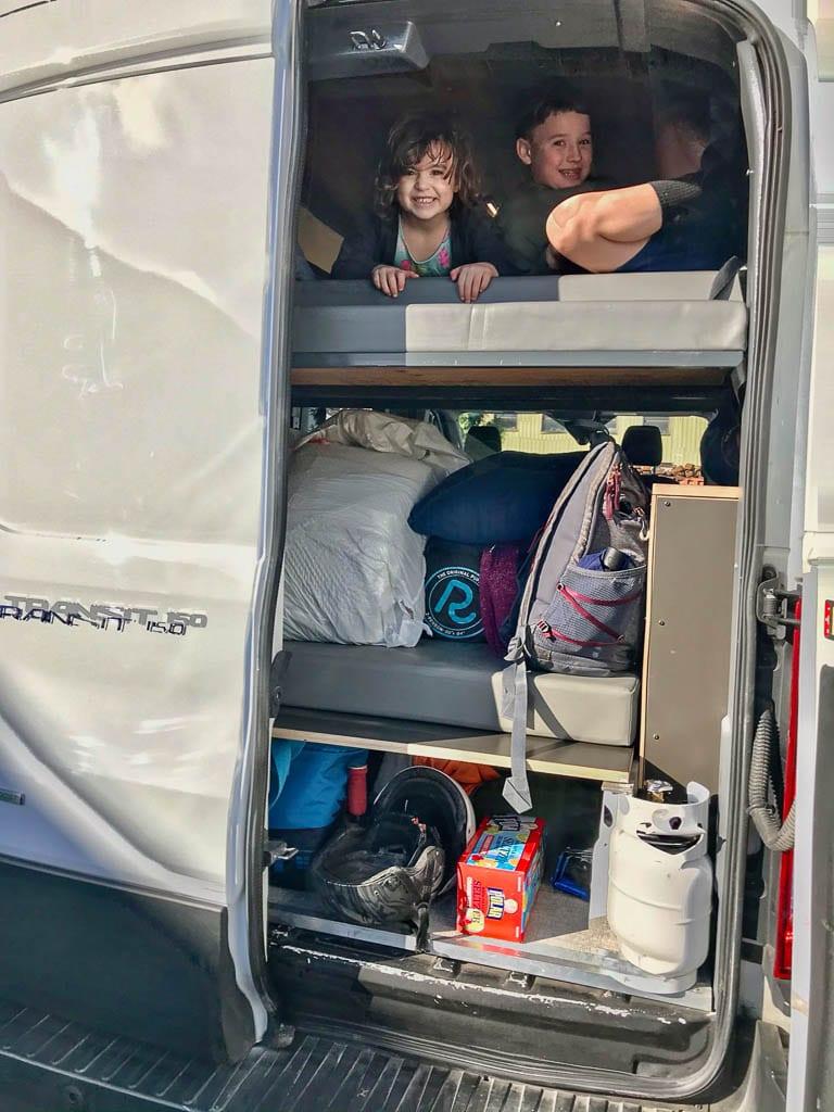 Ford Transit camper van for the kids!
