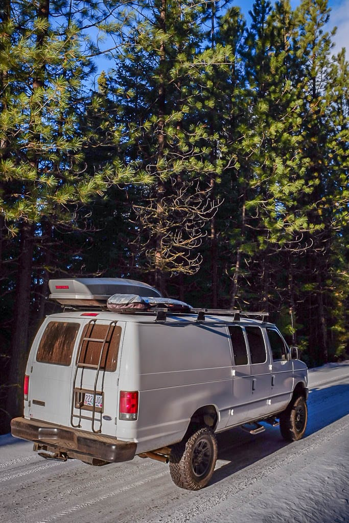 Ford camper van conversion for winter road trips