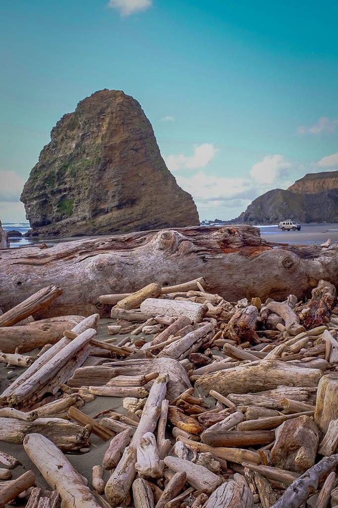 Oregon Coast vistas with camper van conversion