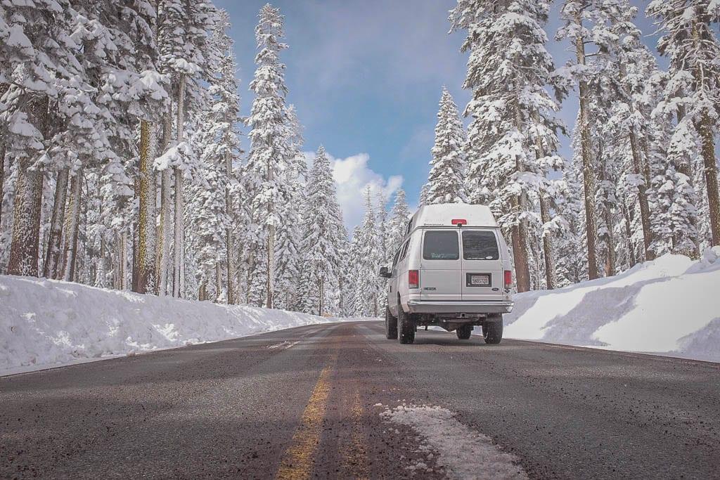 Winter-wonder land adventure camper van