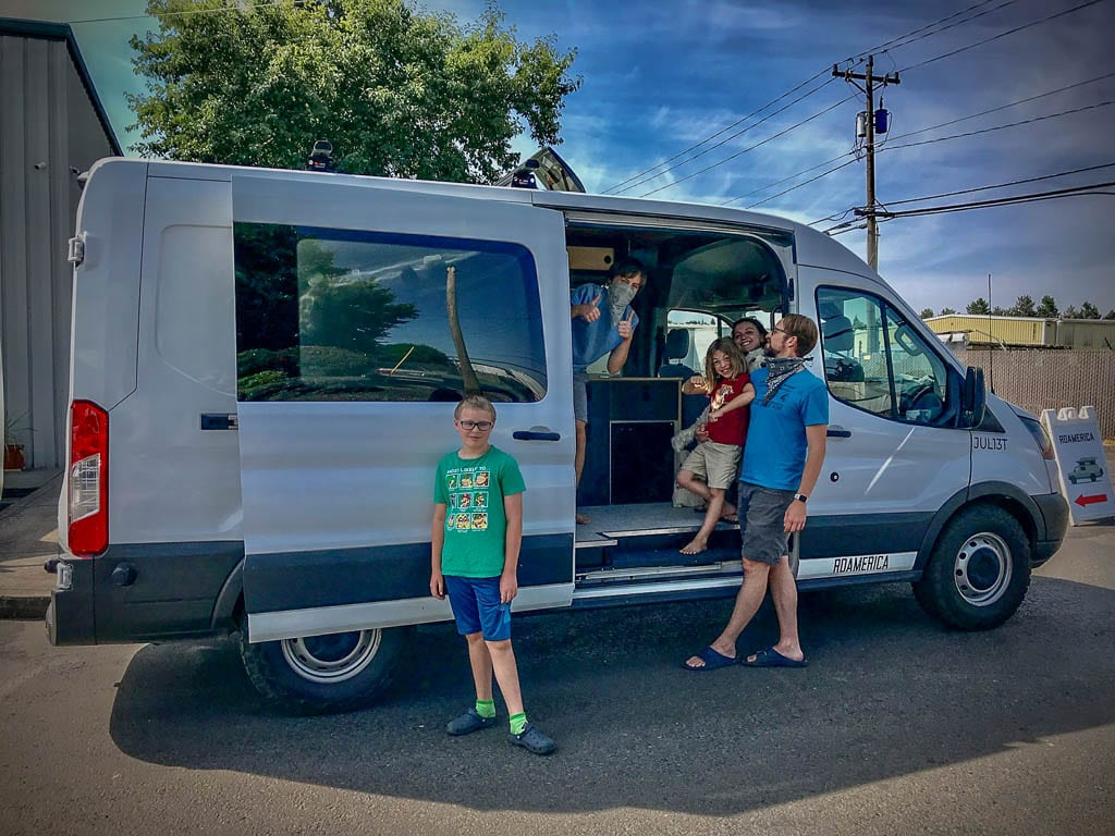 Ford Transit camper van for the family