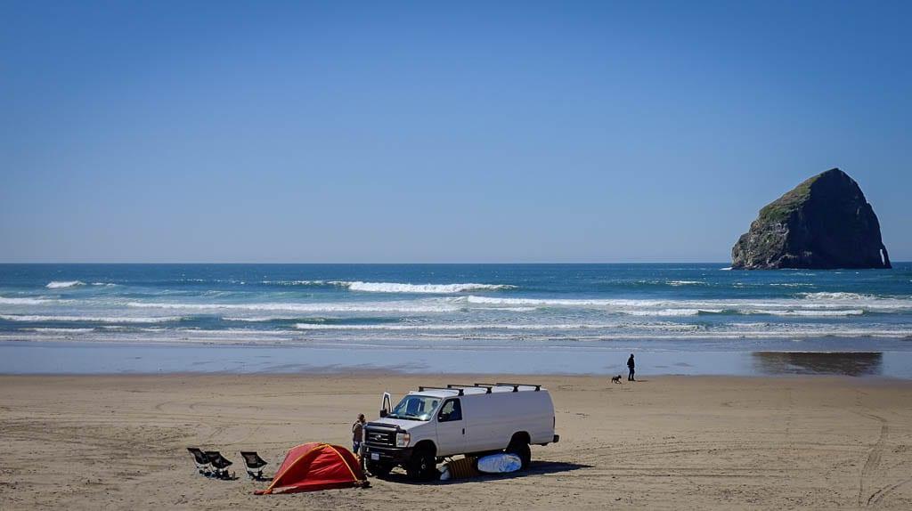Camper van rental adventures on the Oregon Coast.