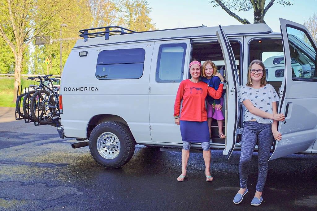 Camper van rentals for the girls adventure road-trip