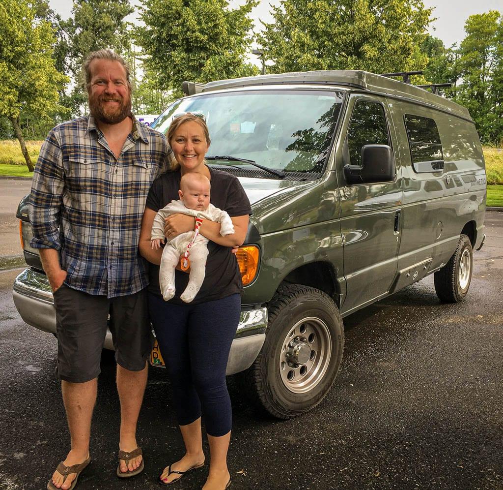 Babies first camper van trip!